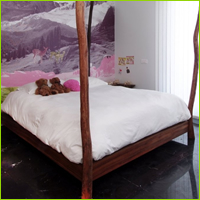 natural 4 poster bed